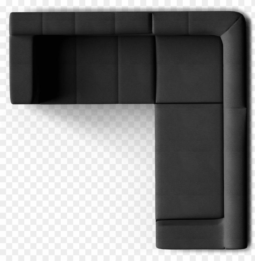 free PNG kramfors 2 seat corner sofa top - sofa top view PNG image with transparent background PNG images transparent