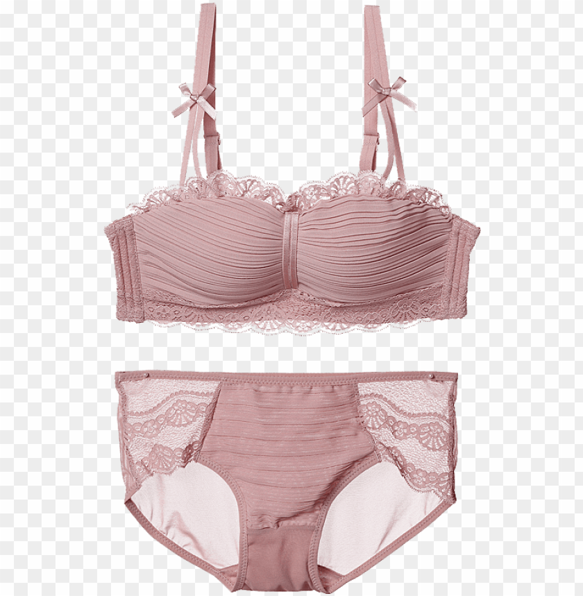 free PNG kvoz kwozi no steel ring bra gathered small chest one-piece - lingerie to PNG image with transparent background PNG images transparent