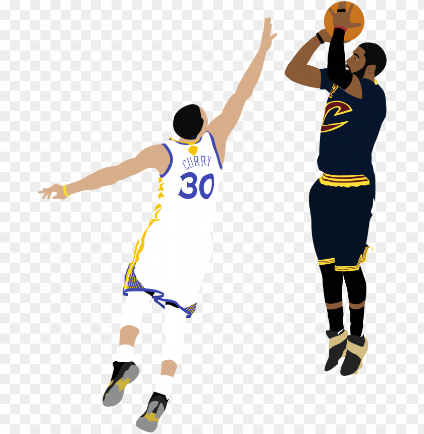 free PNG kyrie irving shooting over steph curry illustration - kyrie irving shot over curry PNG image with transparent background PNG images transparent