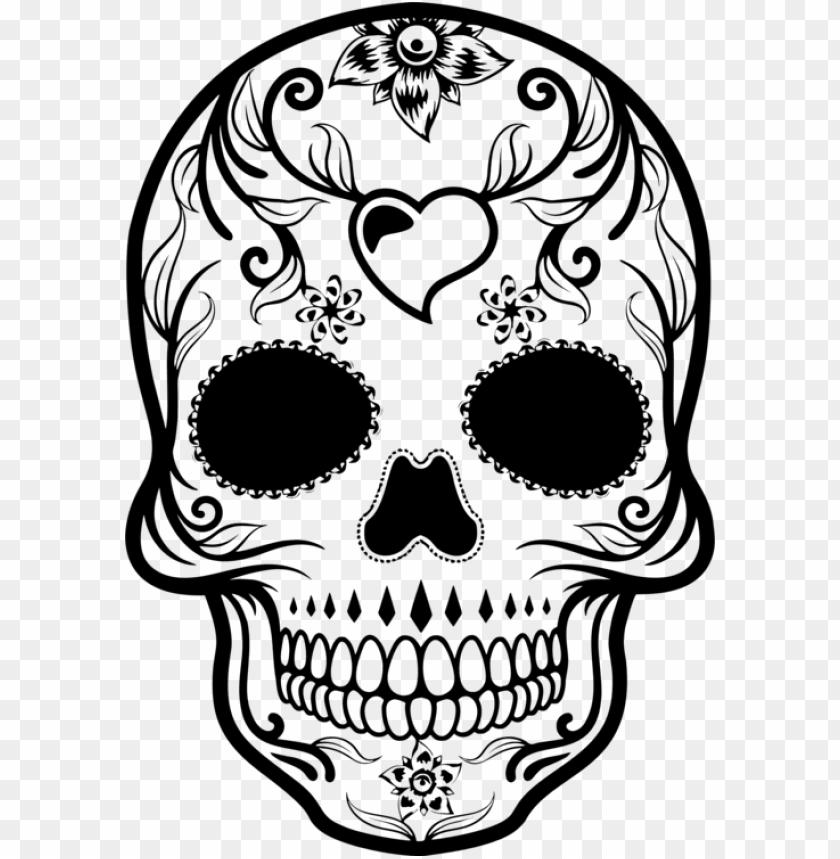 La Calavera Catrina Day Of The Dead Skull Drawing New