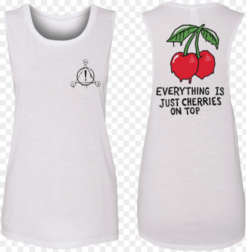 free PNG ladies cherries sleeveless - panic at the disco pray for the wicked tour merch PNG image with transparent background PNG images transparent