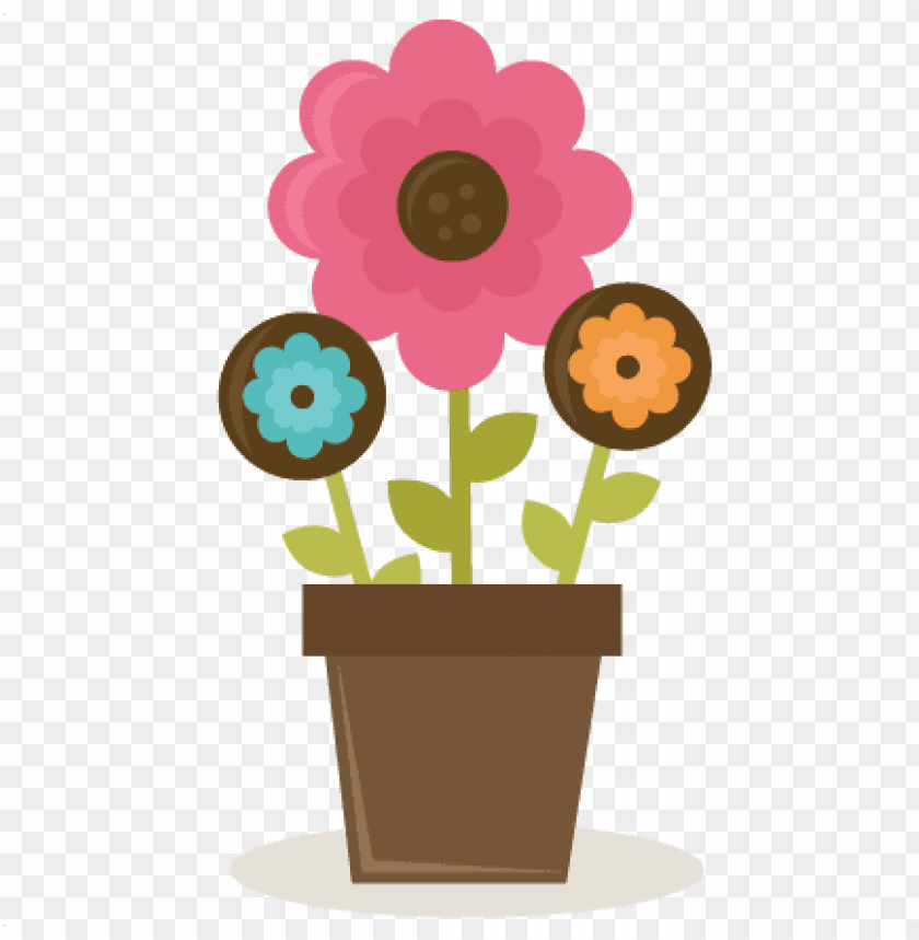 Ladybug Clipart Png Collection Flowers In Pot Svg Cut Cute Flower Pot Png Image With Transparent Background Toppng