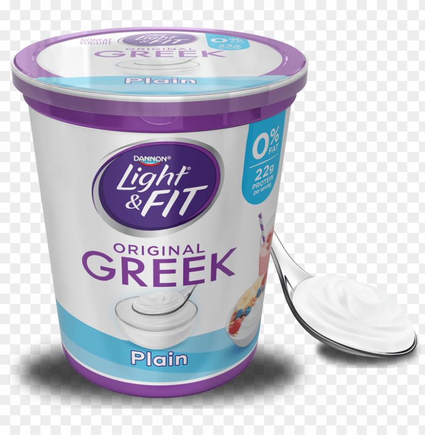 free PNG lain greek yogurt - light & fit yogurt, greek, nonfat, vanilla - 5.3 PNG image with transparent background PNG images transparent
