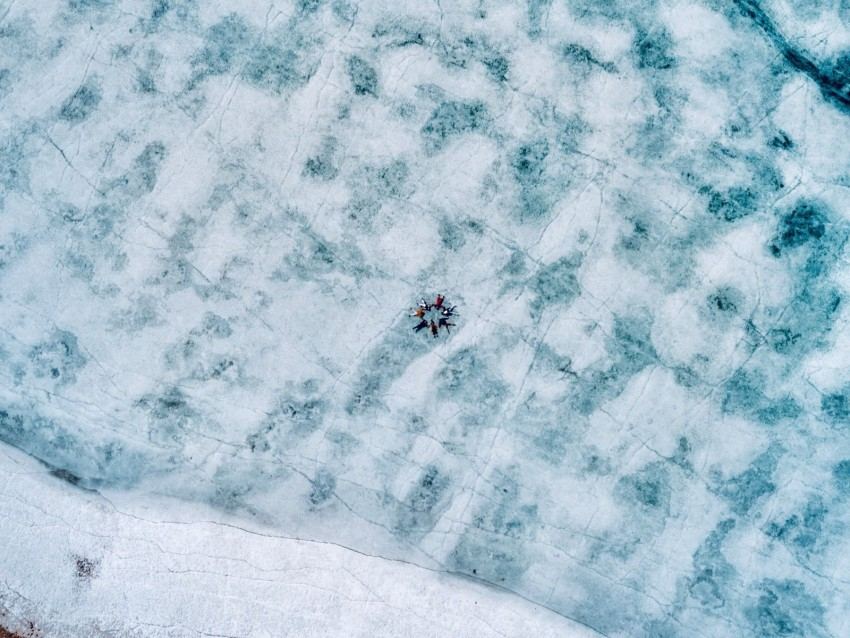 free PNG lake, ice, aerial view, frozen, people background PNG images transparent