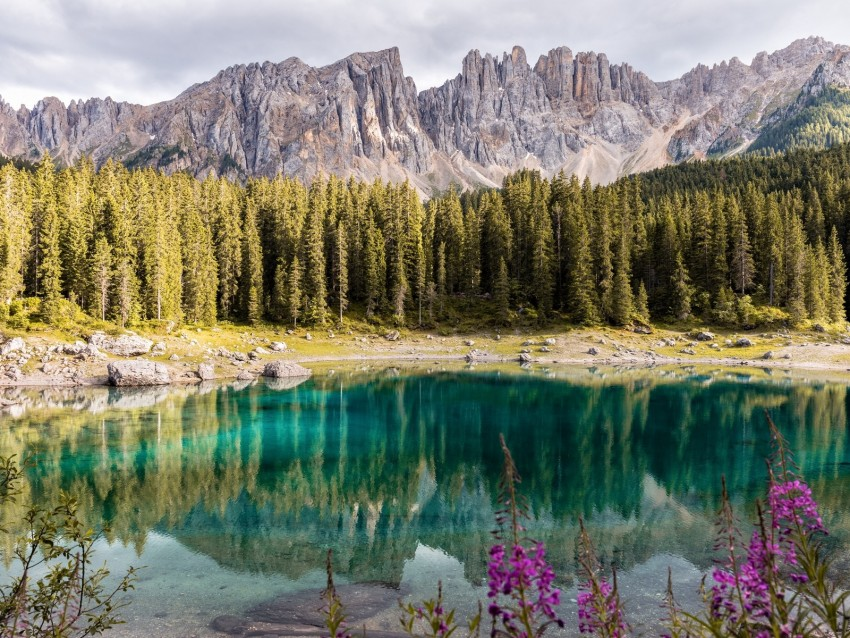free PNG lake, mountains, trees, landscape, mountain landscape, italy background PNG images transparent