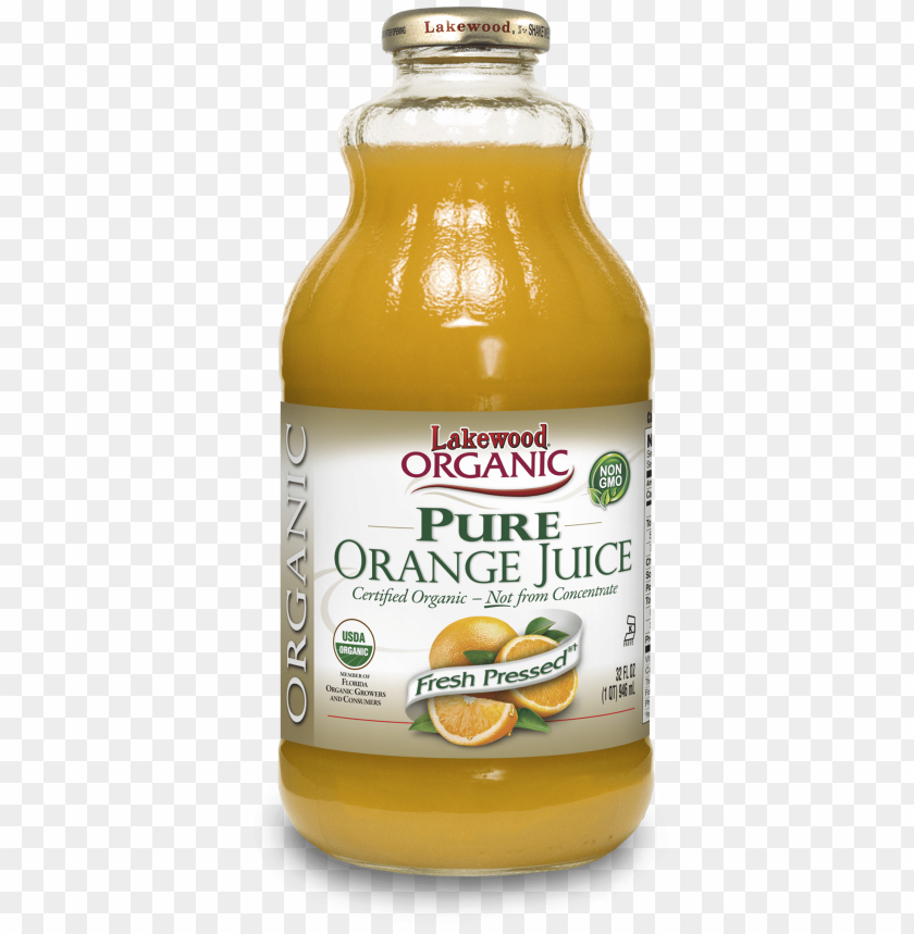 free PNG lakewood organic pure orange juice, 32 ounce - organic not from concentrate cranberry juice PNG image with transparent background PNG images transparent