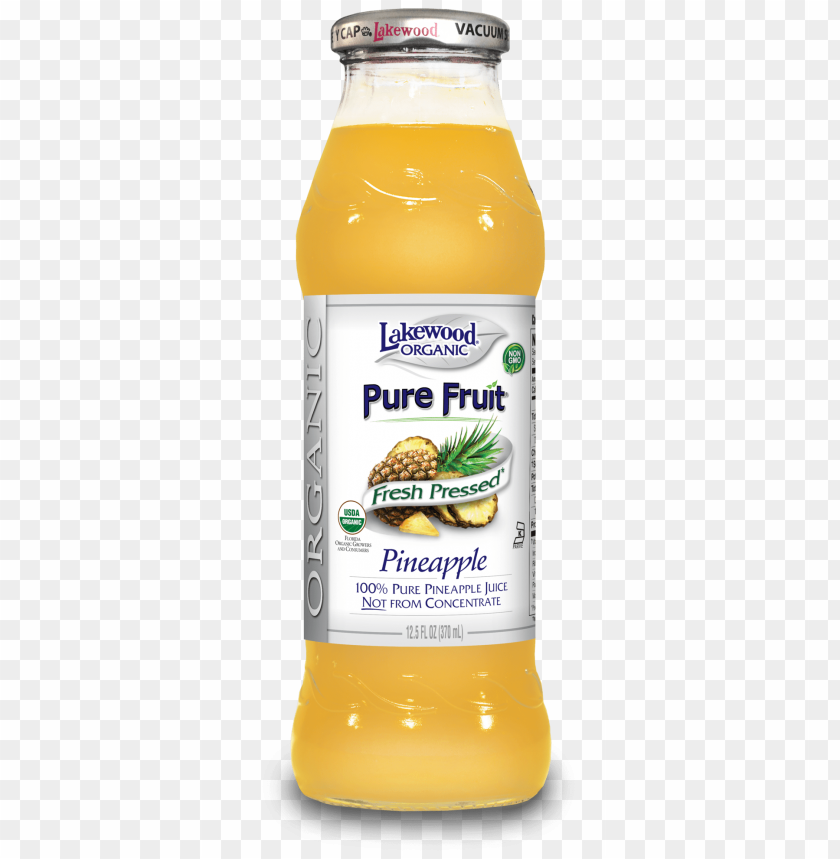 free PNG lakewood organic pure pineapple juice, - lakewood - organic pure fruit juice pineapple - 12.5 PNG image with transparent background PNG images transparent