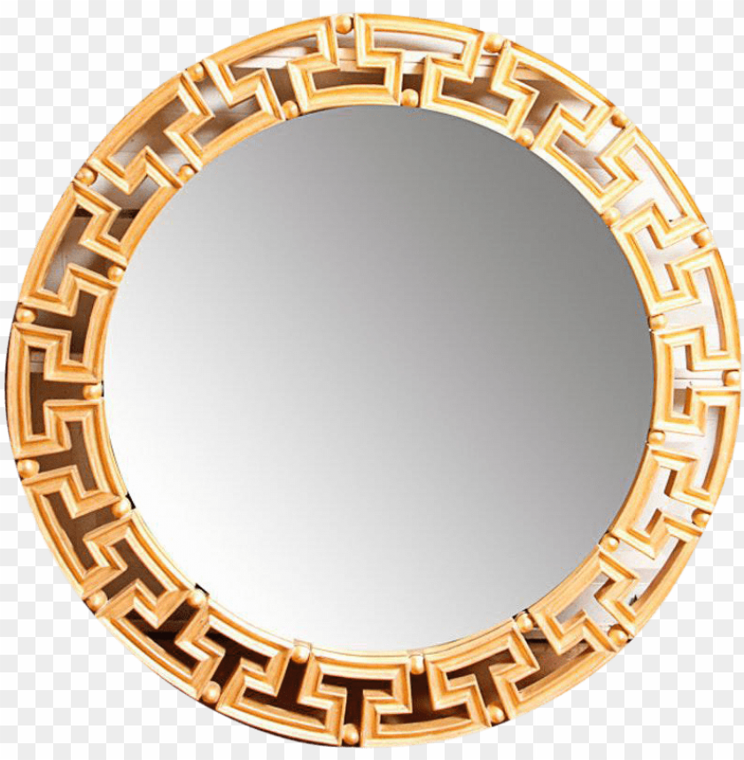 free PNG lam gold greek key round wall mirror on chairish - gold greek key wall mirror PNG image with transparent background PNG images transparent