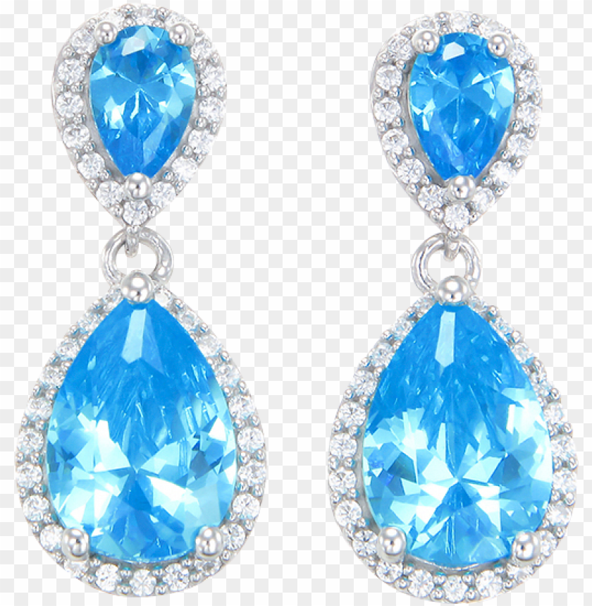 free PNG lamorous teardrop blue earrings - earrings PNG image with transparent background PNG images transparent