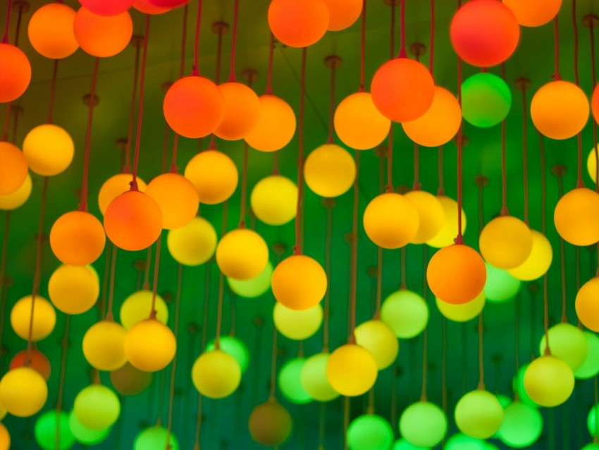 free PNG lamps, balls, colorful, bright background PNG images transparent
