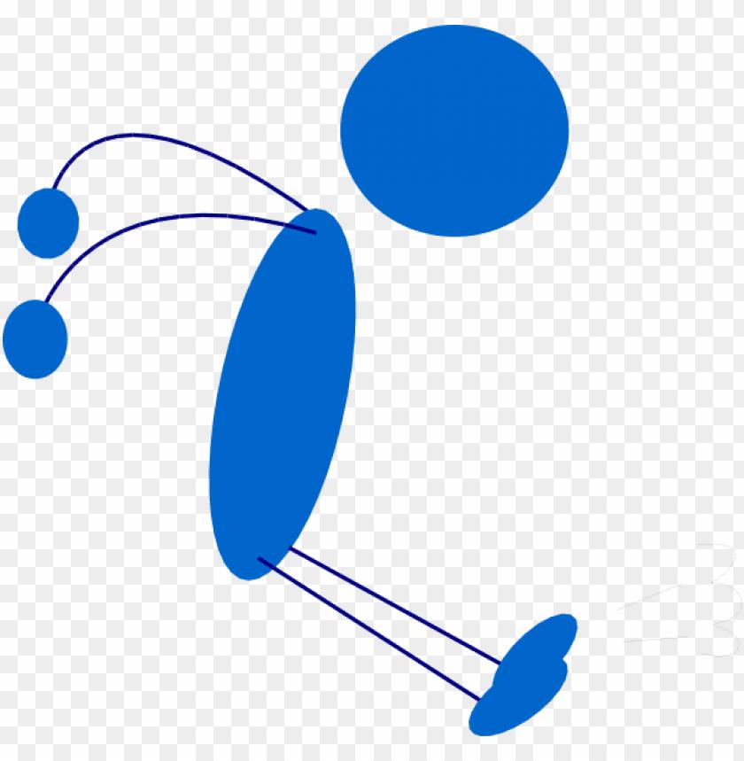 free PNG landing blue stick man clip art at clker com vector - stick man jumpi PNG image with transparent background PNG images transparent