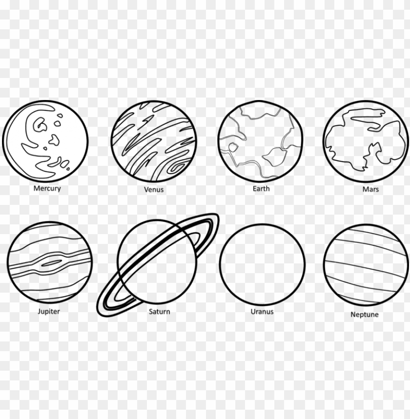 free PNG lanets clipart black u0026 w - black and white pictures of planets PNG image with transparent background PNG images transparent