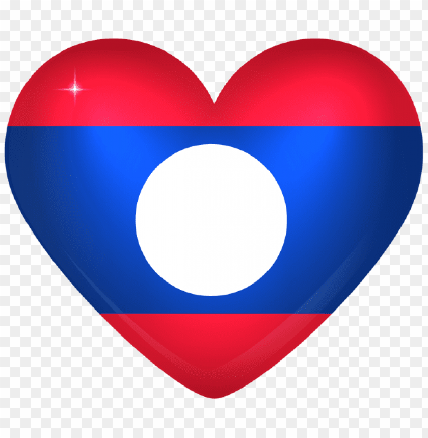 free PNG Download laos large heart flag clipart png photo   PNG images transparent