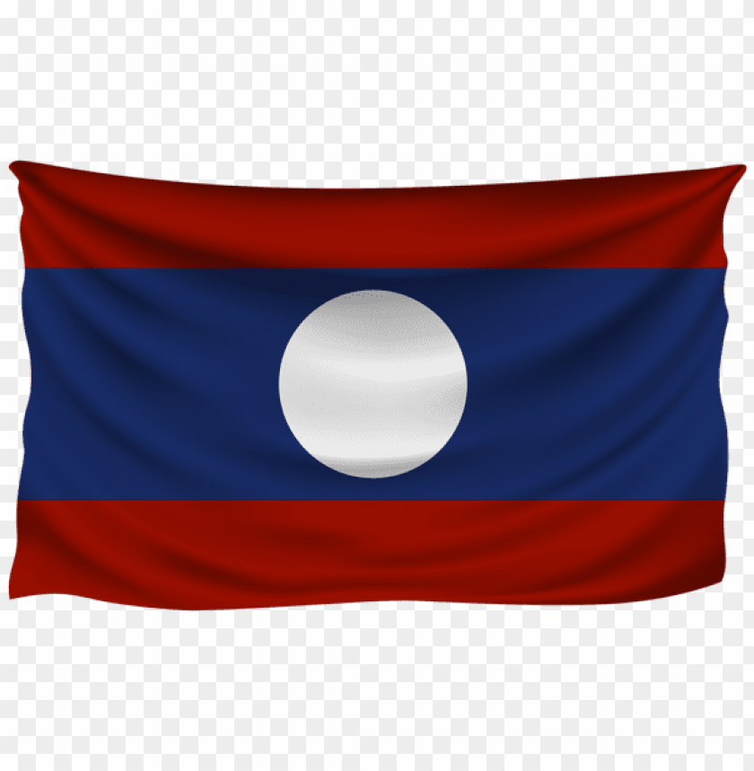 free PNG Download laos wrinkled flag clipart png photo   PNG images transparent
