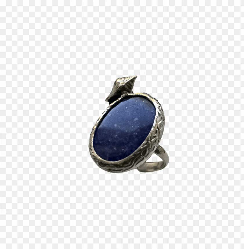free PNG lapis lazuli- handmade sterling silver ring - engagement ri PNG image with transparent background PNG images transparent