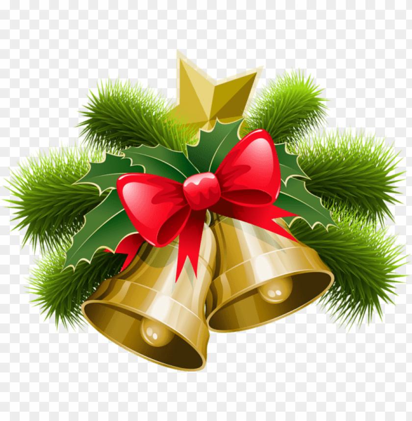 free PNG large transparent christmas bells with bow PNG Images PNG images transparent