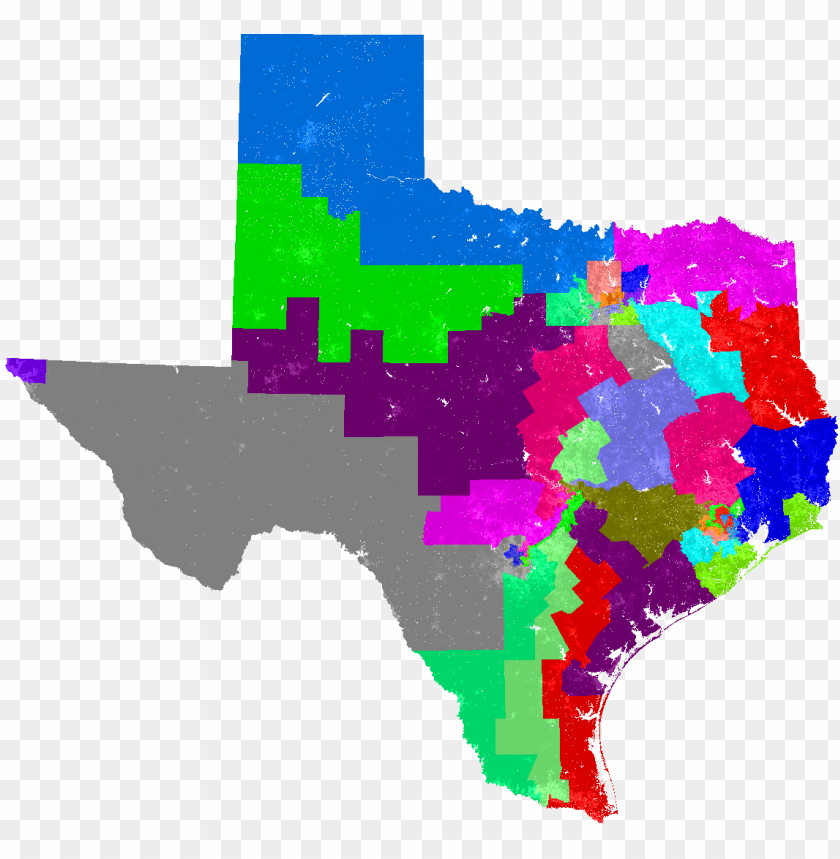 free PNG larger texas congress map - house of representatives texas ma PNG image with transparent background PNG images transparent