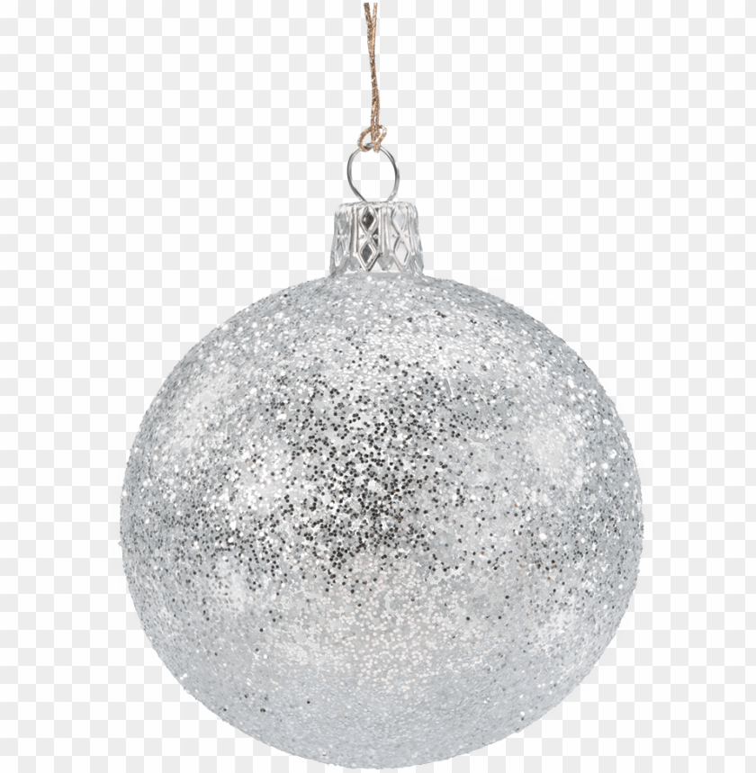 free PNG lass bauble silver with glitter, 7 cm - christmas silver glitter ball PNG image with transparent background PNG images transparent