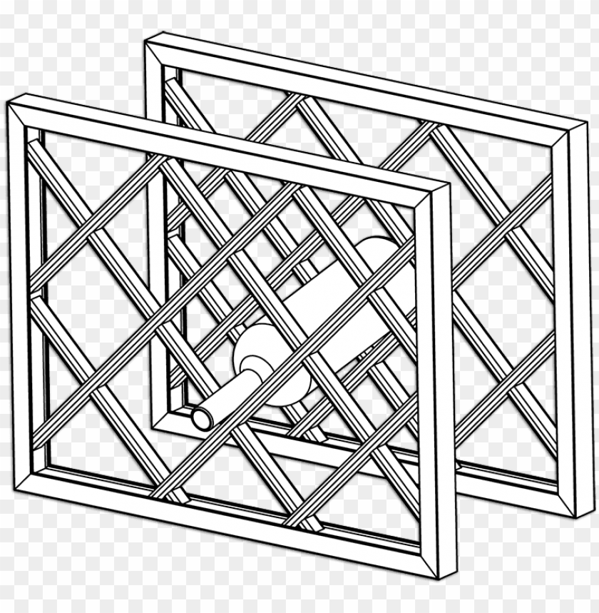 free PNG lattice wine rack dimensions assembled with frame part - wine rack lattice trellis PNG image with transparent background PNG images transparent