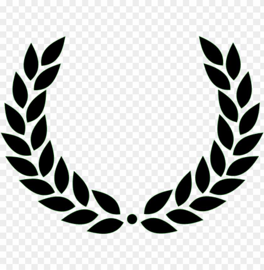 free PNG laurel wreath roman victory black leaves a - laurel wreath PNG image with transparent background PNG images transparent
