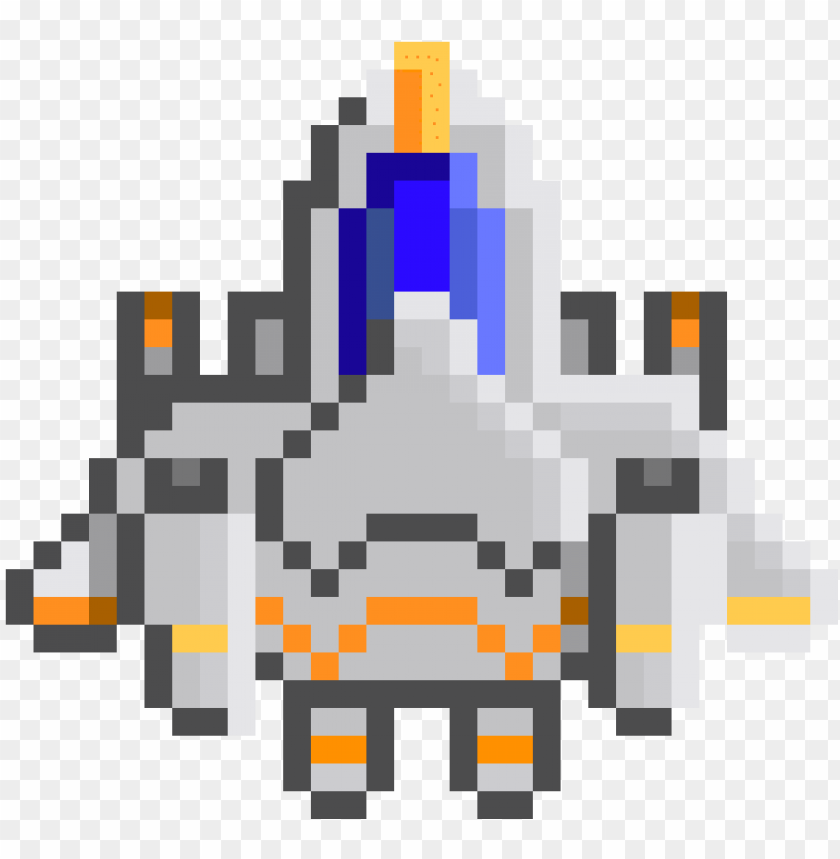 Layer Space Ship Space Ship Png Pixel Art Png Image With Transparent Background Toppng