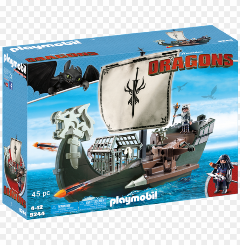 free PNG laymobil how to train your dragon drago's ship building - train your dragon playmobil PNG image with transparent background PNG images transparent