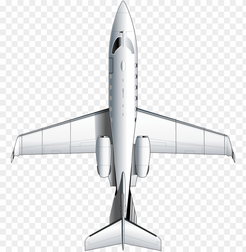 free PNG learjet 31a top view - airplane top view PNG image with transparent background PNG images transparent