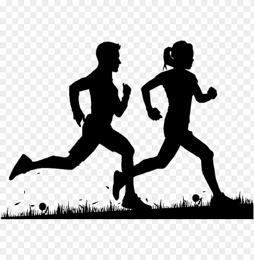 free PNG learning to walk before you can run - man and woman running silhouette PNG image with transparent background PNG images transparent