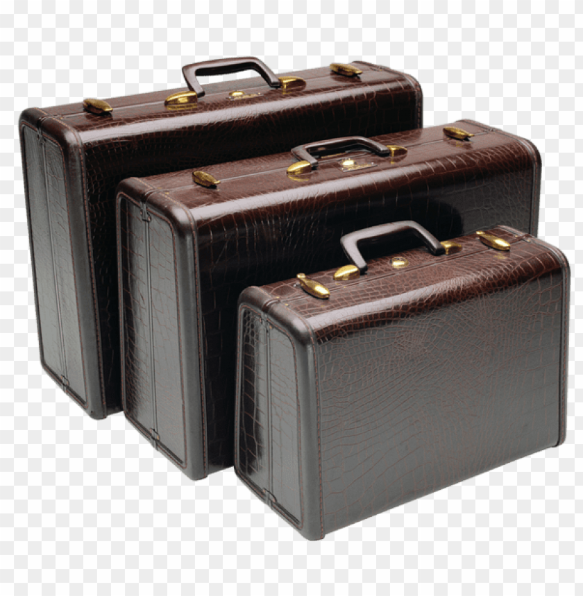 free PNG Download leather suitcasespicture clipart png photo   PNG images transparent