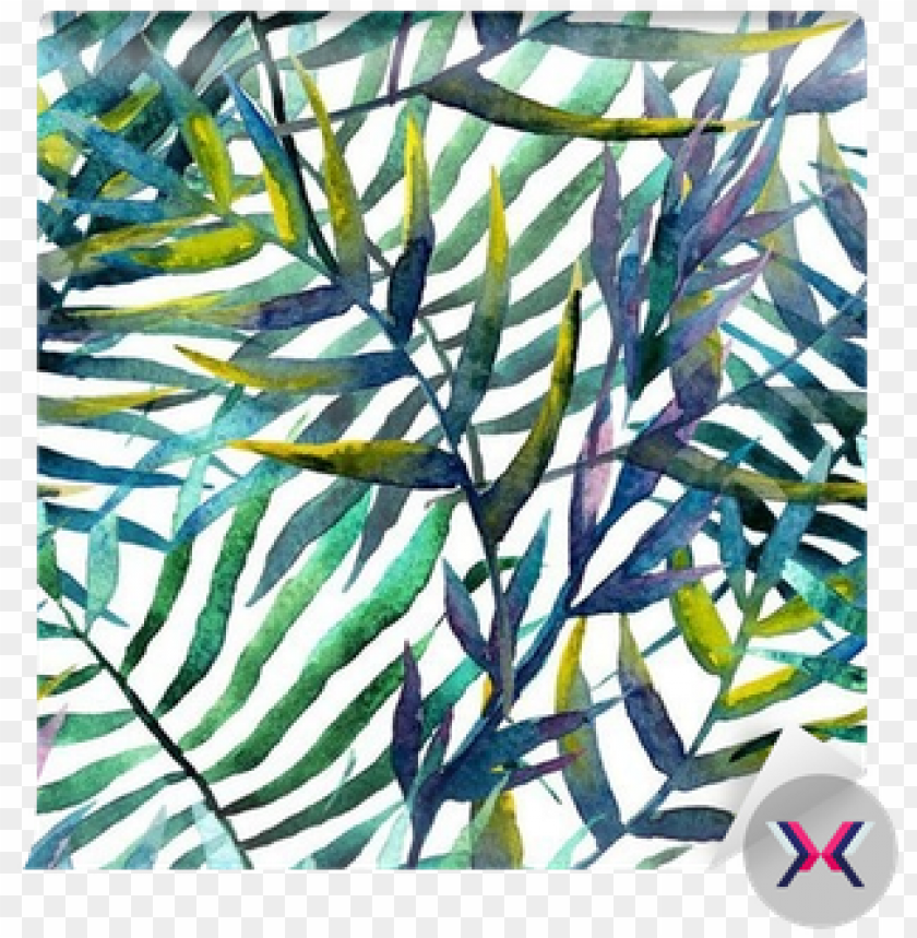 leaves abstract pattern in watercolor wall mural • - leaves abstract pattern background wall watercolor PNG image with transparent background@toppng.com
