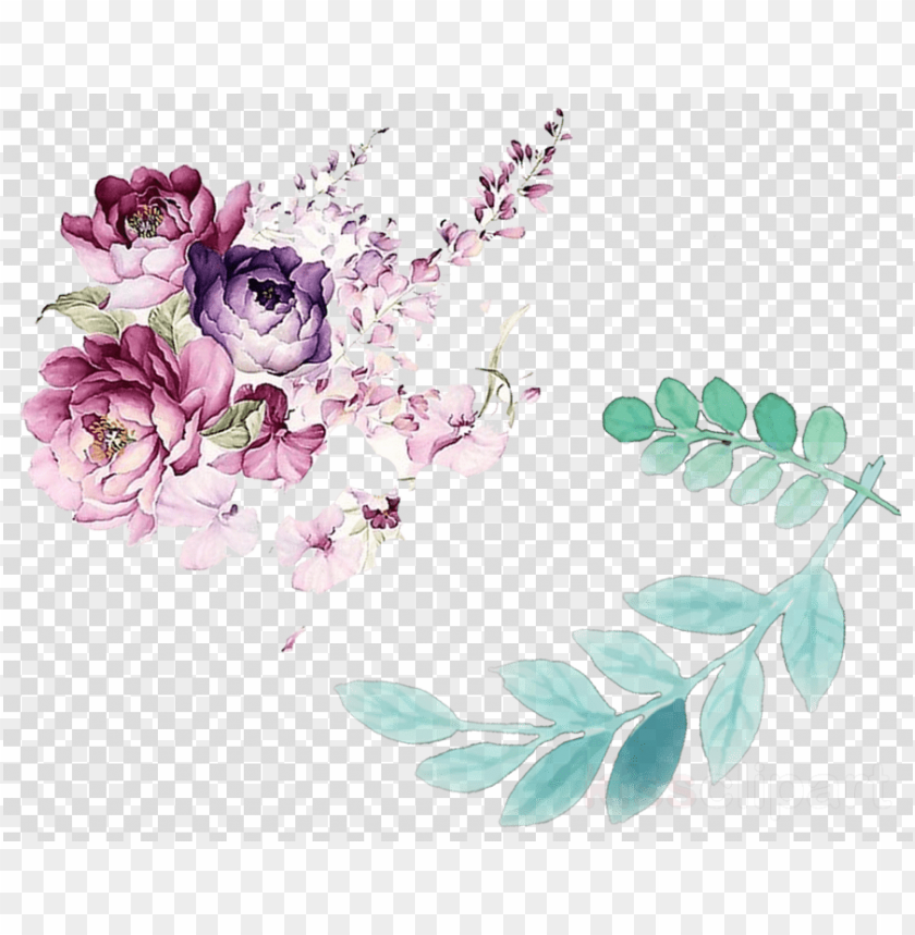 free PNG leaves and flowers watercolor PNG image with transparent background PNG images transparent