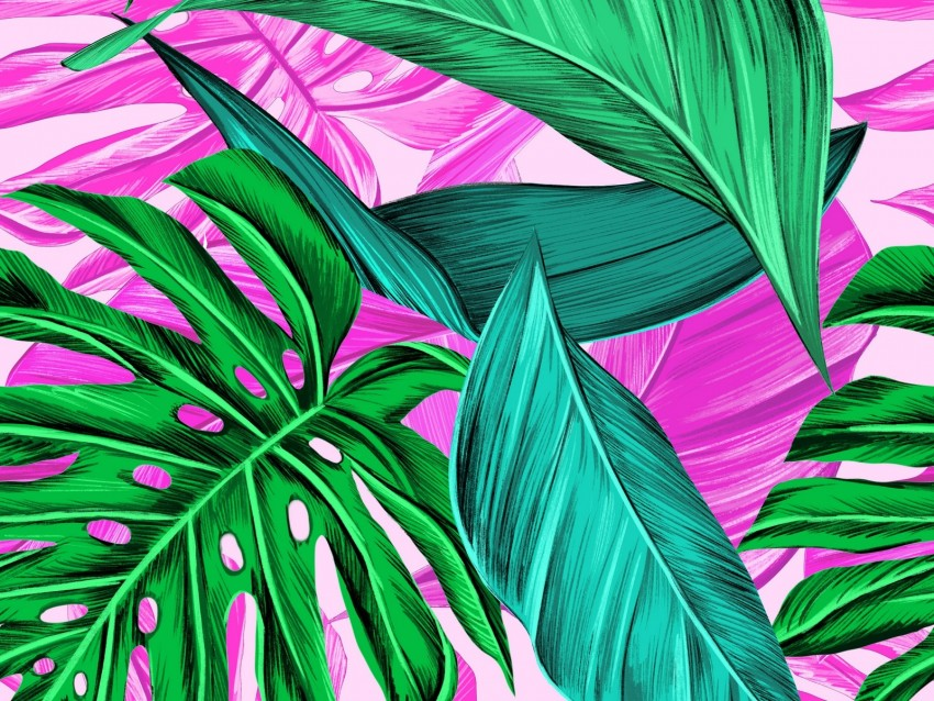 free PNG leaves, pattern, bright, tropical background PNG images transparent