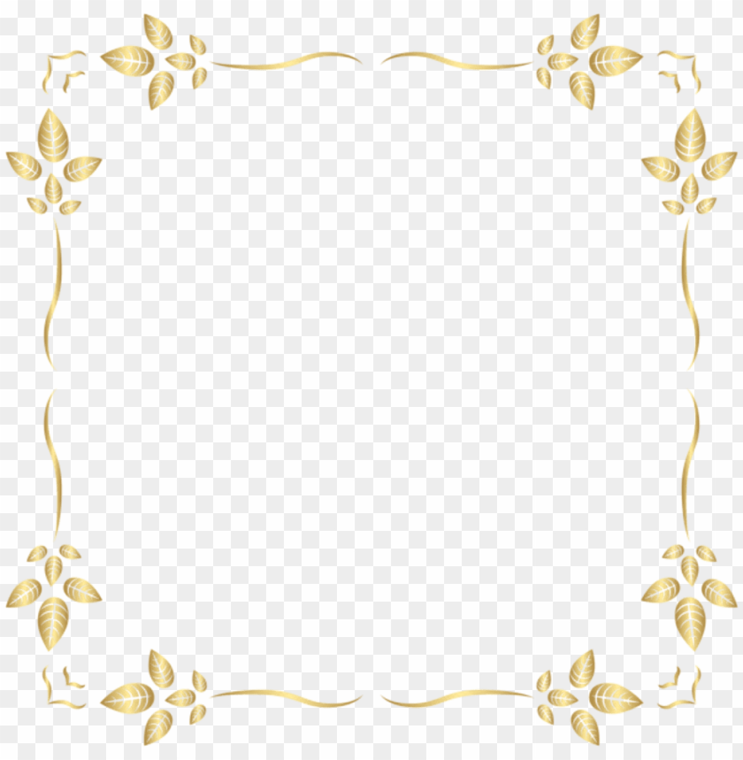 free PNG leaves square gold golden frame border squareframe - png border decorations yellow PNG image with transparent background PNG images transparent