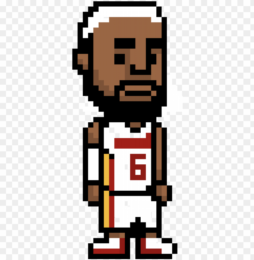 Lebron James Logo Pixel Art Png Image With Transparent Background Toppng