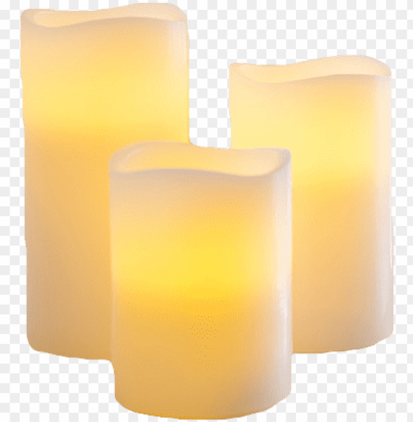 free PNG led candles - led flameless candles PNG image with transparent background PNG images transparent
