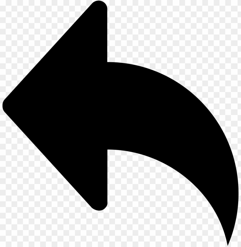 free PNG left arrow curved black symbol comments - turn page arrow vector PNG image with transparent background PNG images transparent