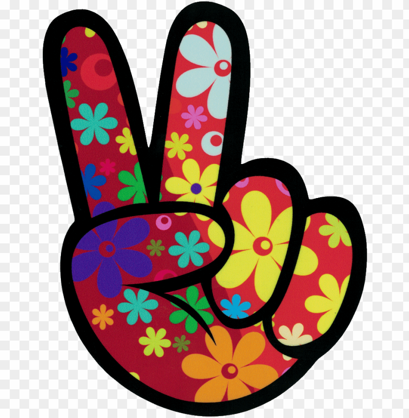 free PNG left hand peace fingers - hippie stickers PNG image with transparent background PNG images transparent