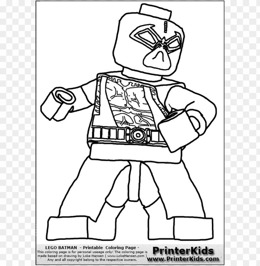 Lego Batman printable coloring pages || COLORING-PAGES-PRINTABLE.COM | 859x840