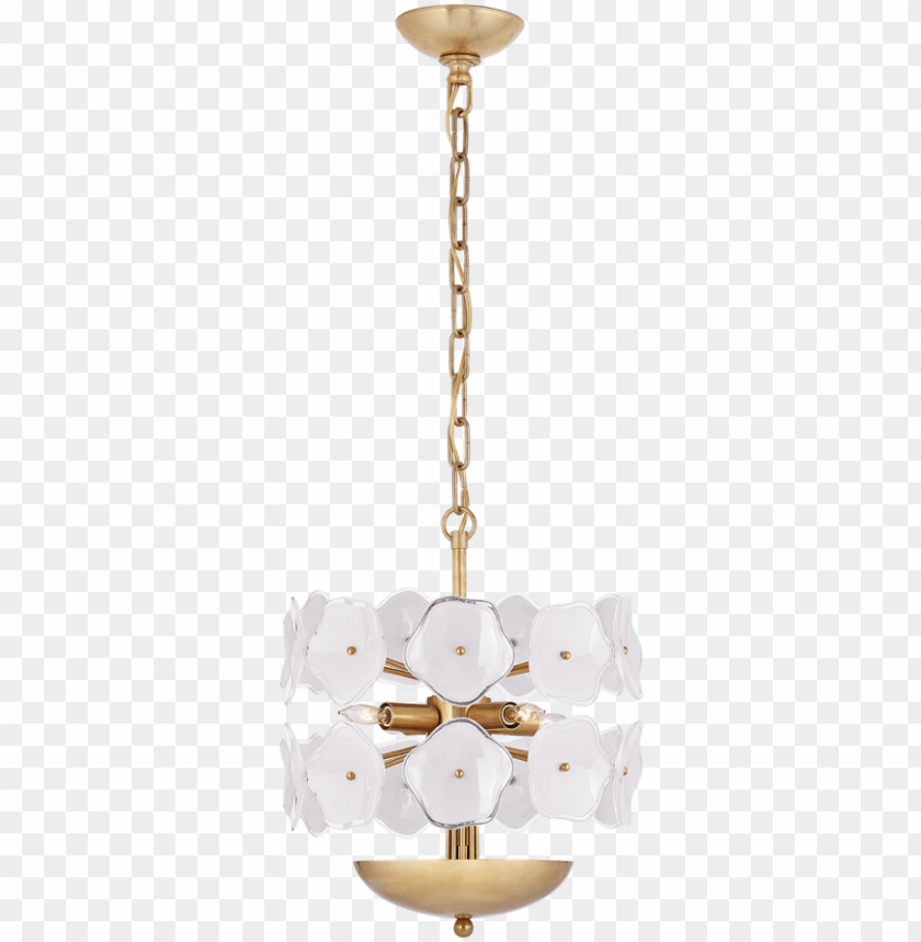free PNG leighton small chandelier in soft brass with cream - chandelier PNG image with transparent background PNG images transparent