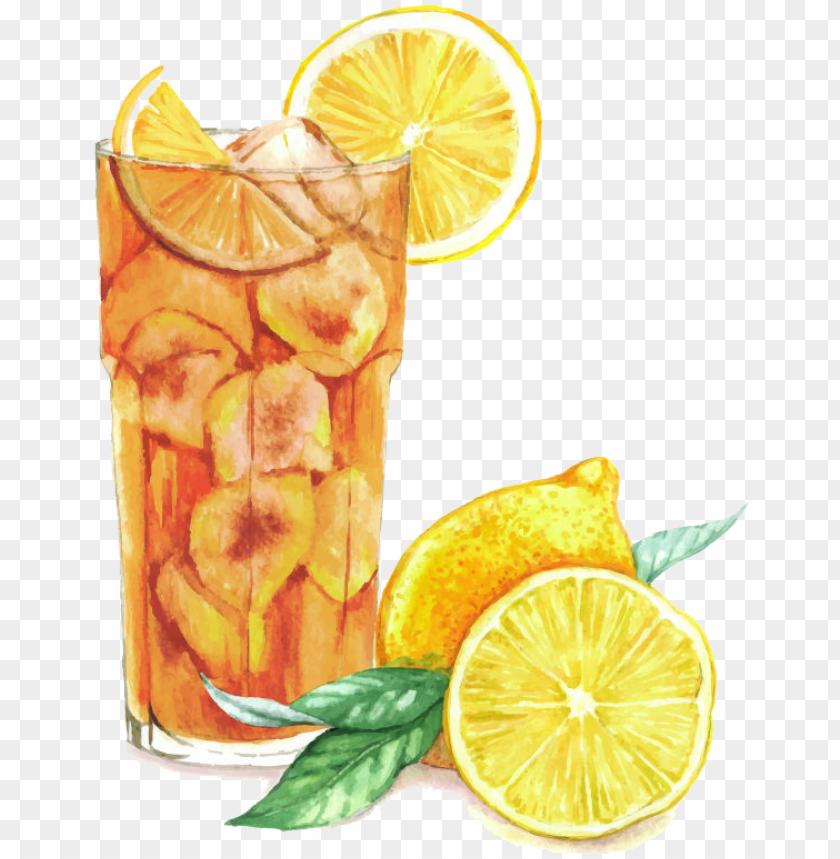 free PNG lemonade watercolor png - lemon ice tea watercolor PNG image with transparent background PNG images transparent
