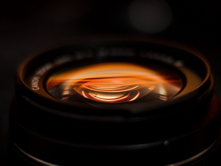 free PNG lens, camera, macro, shooting, dark background PNG images transparent