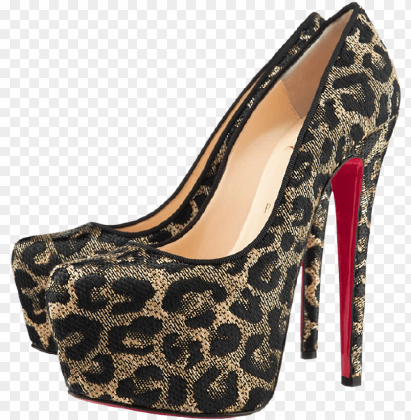 free PNG leopard female heels png clipart - high heels painting PNG image with transparent background PNG images transparent