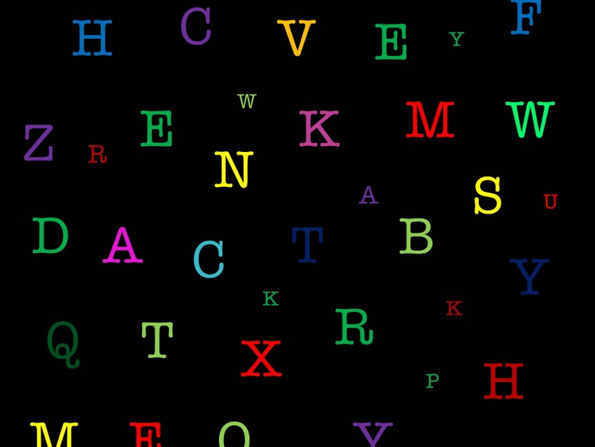 free PNG letters, alphabet, colorful, pattern background PNG images transparent