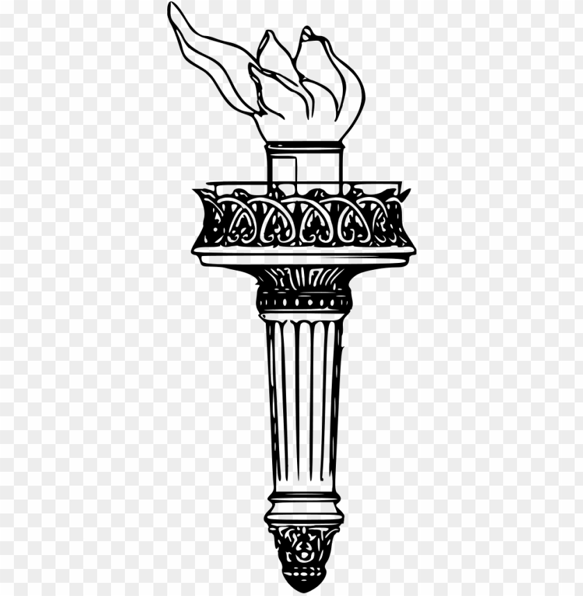 free PNG liberty torch drawing - statue of liberty torch clipart PNG image with transparent background PNG images transparent