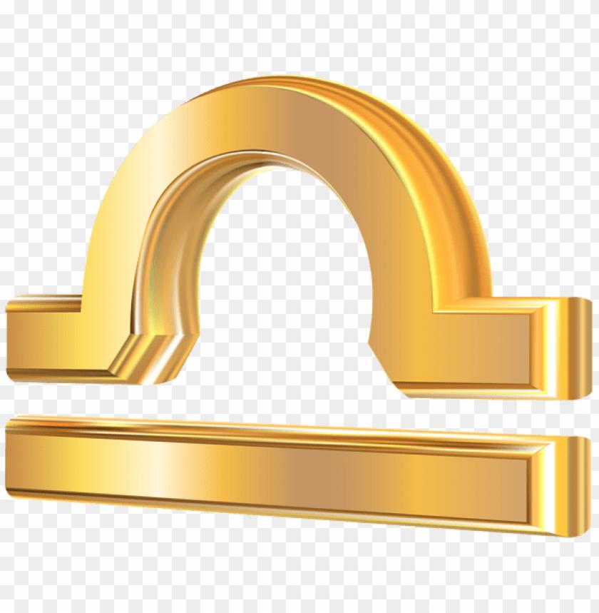 free PNG Download libra 3d gold zodiac sign clipart png photo   PNG images transparent