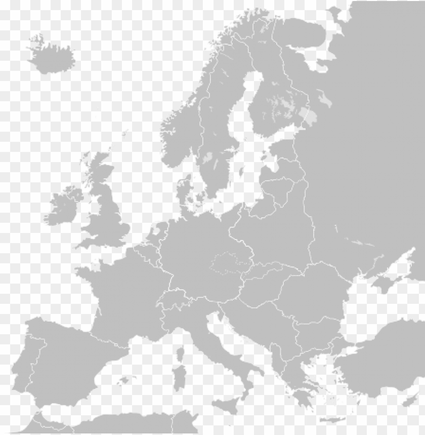 free PNG library europe vector map outline - blank map of europe sv PNG image with transparent background PNG images transparent
