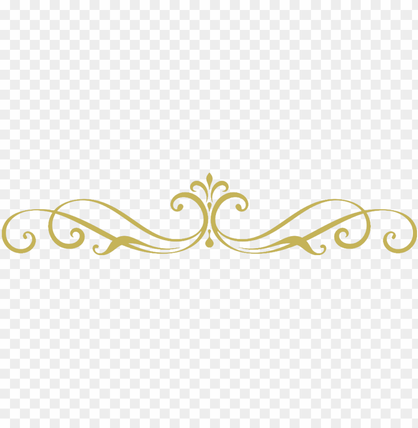 free PNG library stock gold divider clipart - simple scroll designs PNG image with transparent background PNG images transparent