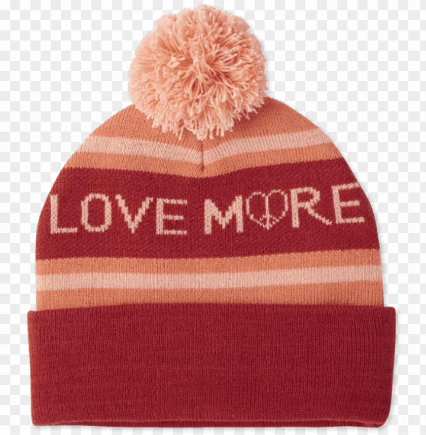free PNG life is good love pom beanie women's size: one size PNG image with transparent background PNG images transparent