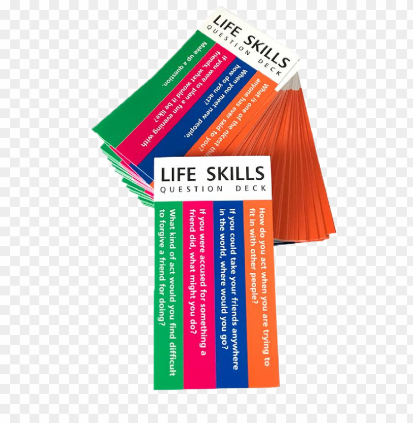 free PNG life skills card deck - graphic desi PNG image with transparent background PNG images transparent
