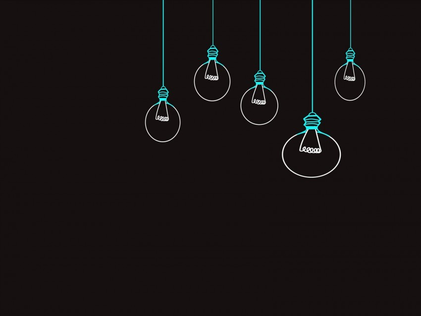 free PNG light bulb, drawing, vector, minimalism, black background background PNG images transparent